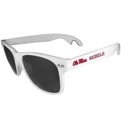 Mississippi Rebels Beachfarer Bottle Opener Sunglasses, White