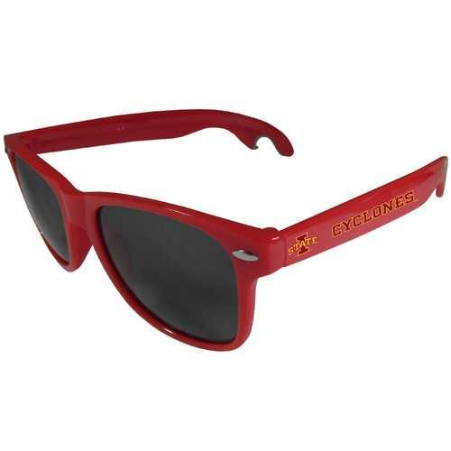 Iowa St. Cyclones Beachfarer Bottle Opener Sunglasses, Red