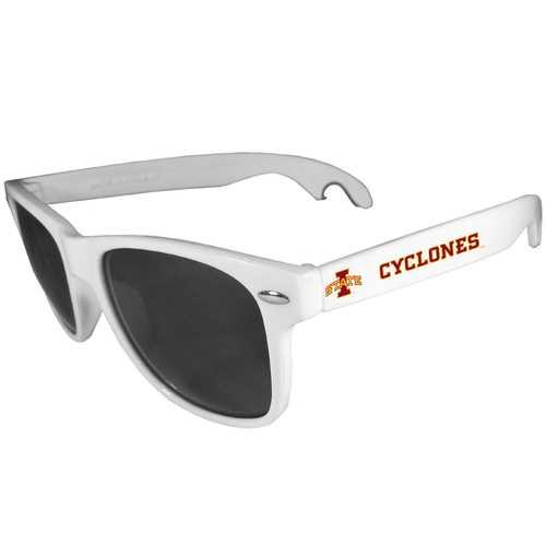 Iowa St. Cyclones Beachfarer Bottle Opener Sunglasses, White