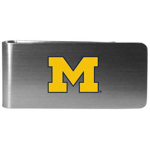 Michigan Wolverines Steel Money Clip, Logo