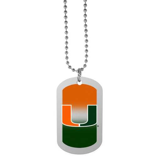 Miami Hurricanes Team Tag Necklace