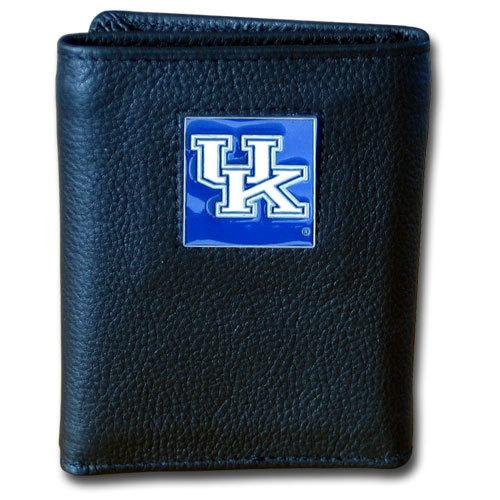 Kentucky Wildcats Deluxe Leather Tri-fold Wallet Packaged in Gift Box