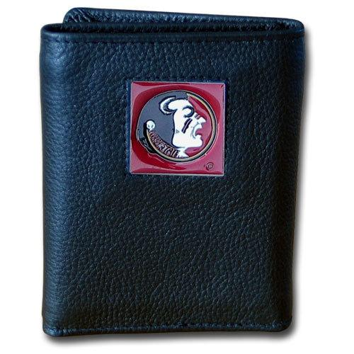 Florida St. Seminoles Deluxe Leather Tri-fold Wallet Packaged in Gift Box