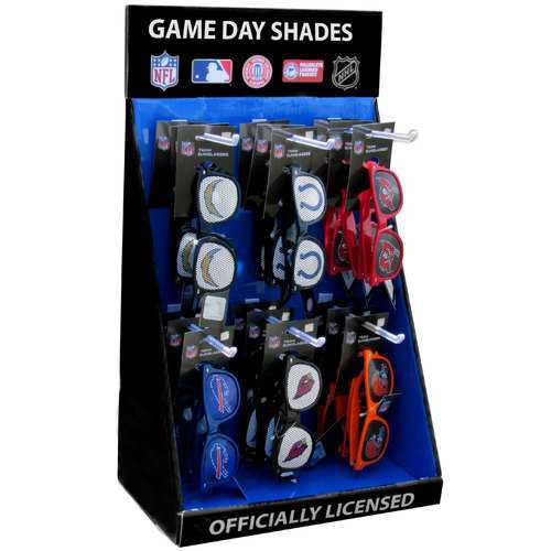 Cardboard Game Day Shades Counter Display with 6 Pegs