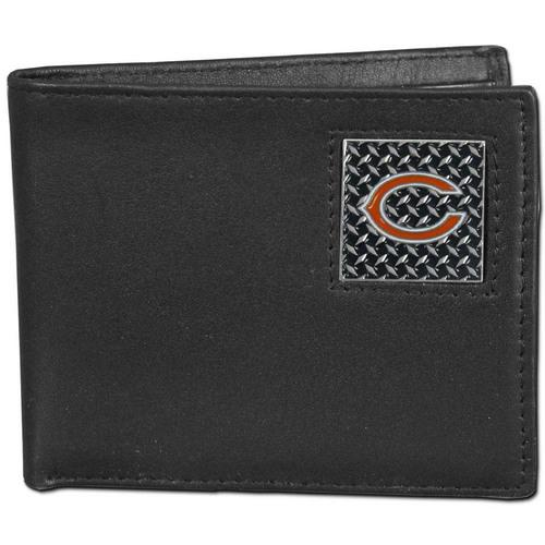 Chicago Bears Gridiron Leather Bi-fold Wallet Packaged in Gift Box