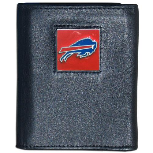 Buffalo Bills Deluxe Leather Tri-fold Wallet Packaged in Gift Box