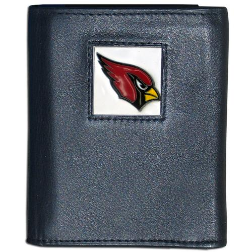 Arizona Cardinals Deluxe Leather Tri-fold Wallet Packaged in Gift Box