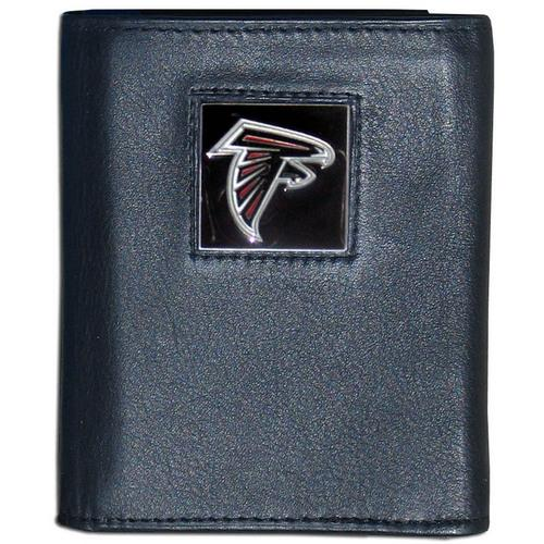 Atlanta Falcons Deluxe Leather Tri-fold Wallet Packaged in Gift Box