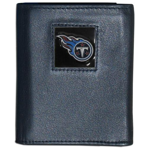 Tennessee Titans Deluxe Leather Tri-fold Wallet Packaged in Gift Box