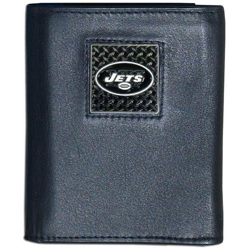 New York Jets Gridiron Leather Tri-fold Wallet Packaged in Gift Box