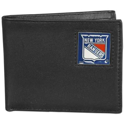 New York Rangers® Leather Bi-fold Wallet Packaged in Gift Box