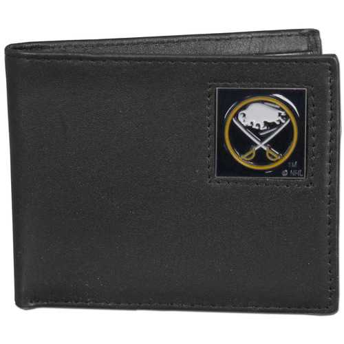 Buffalo Sabres® Leather Bi-fold Wallet Packaged in Gift Box