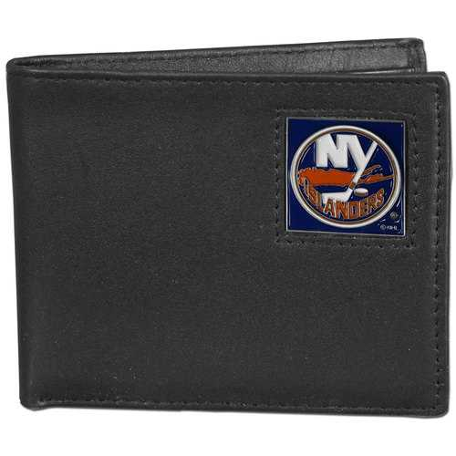 New York Islanders® Leather Bi-fold Wallet Packaged in Gift Box