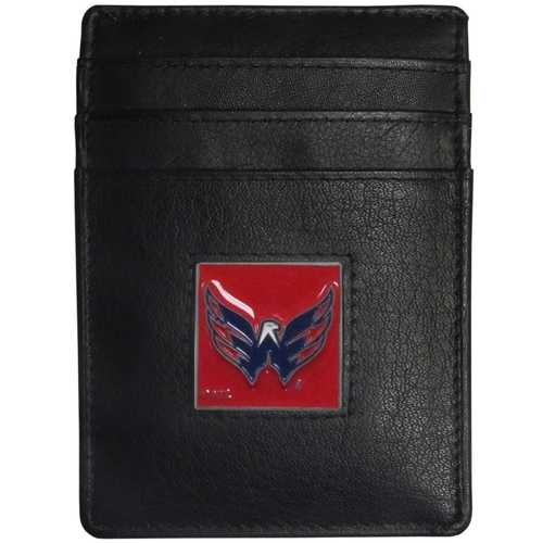 Washington Capitals® Leather Money Clip/Cardholder Packaged in Gift Box