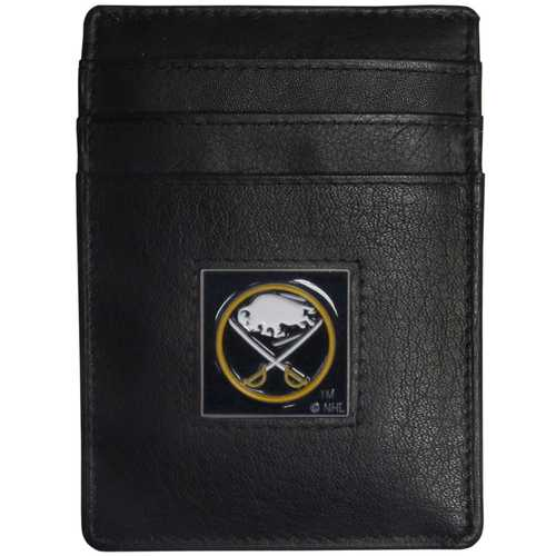 Buffalo Sabres® Leather Money Clip/Cardholder Packaged in Gift Box
