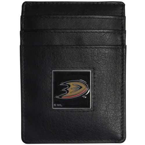 Anaheim Ducks® Leather Money Clip/Cardholder Packaged in Gift Box