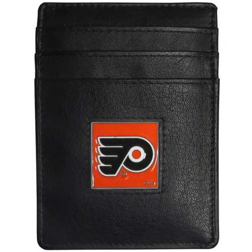 Philadelphia Flyers® Leather Money Clip/Cardholder Packaged in Gift Box