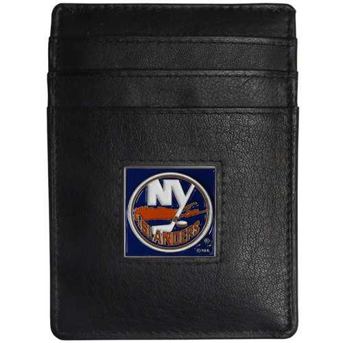 New York Islanders® Leather Money Clip/Cardholder Packaged in Gift Box