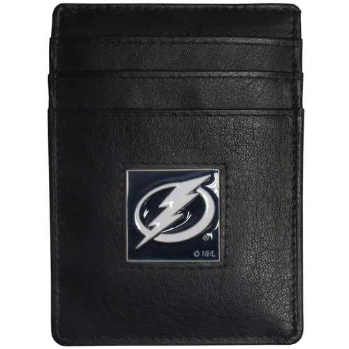 Tampa Bay Lightning® Leather Money Clip/Cardholder Packaged in Gift Box