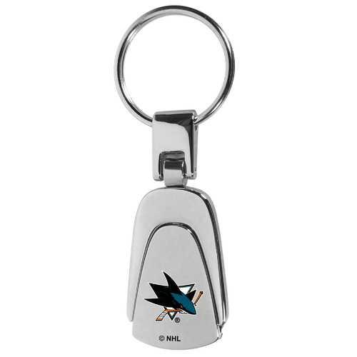 San Jose Sharks® Steel Teardop Key Chain