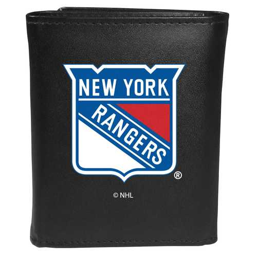 New York Rangers® Leather Tri-fold Wallet, Large Logo