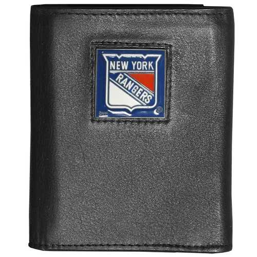 New York Rangers® Deluxe Leather Tri-fold Wallet Packaged in Gift Box