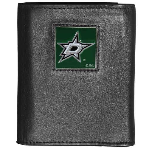Dallas Stars™ Deluxe Leather Tri-fold Wallet Packaged in Gift Box