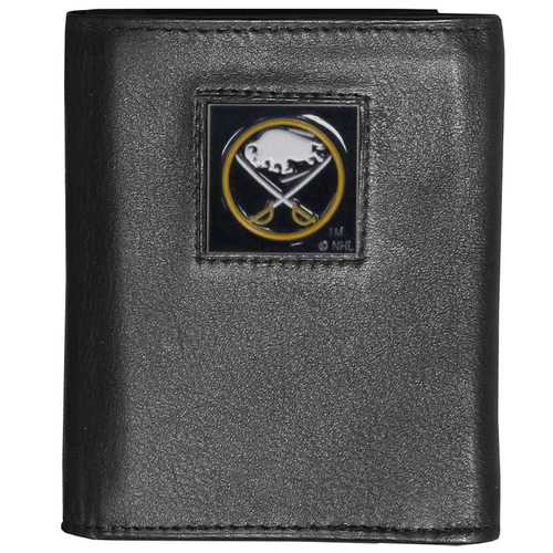 Buffalo Sabres® Deluxe Leather Tri-fold Wallet Packaged in Gift Box