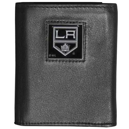 Los Angeles Kings® Deluxe Leather Tri-fold Wallet Packaged in Gift Box