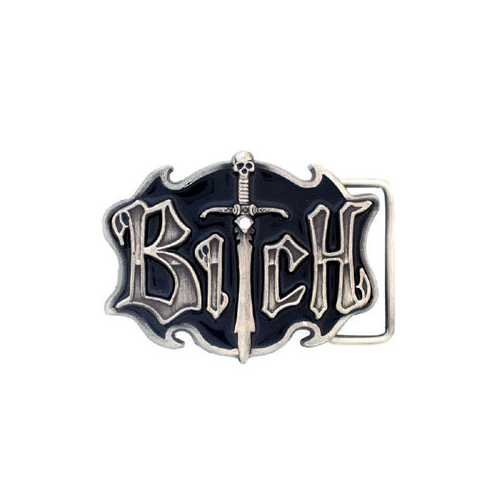 BITCH WITH SWORD BUCKLE