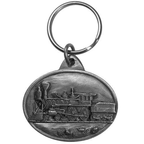 Steam Locomotive Antiqued Key Chain