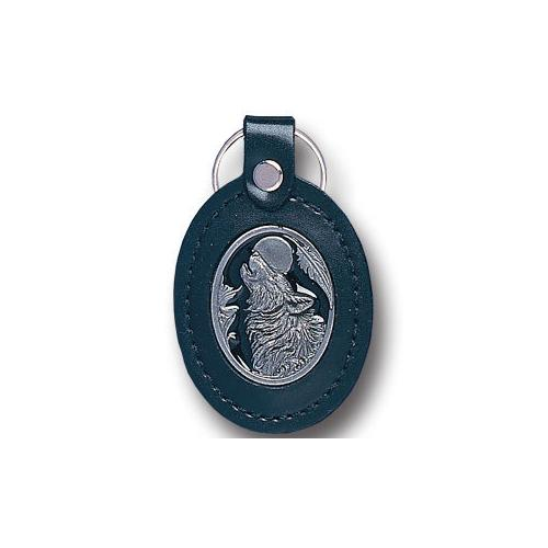 E-HOWLING WOLF LEATHER KEY FOB