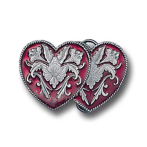 M-WEST. DOUBLE HEART ENAMEL