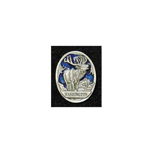Washington Elk Lapel Pin