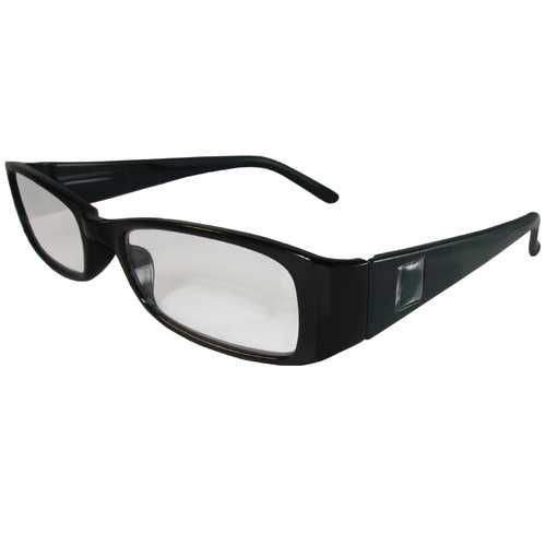 Black and Teal Reading Glasses Power +2.00, 3 pack