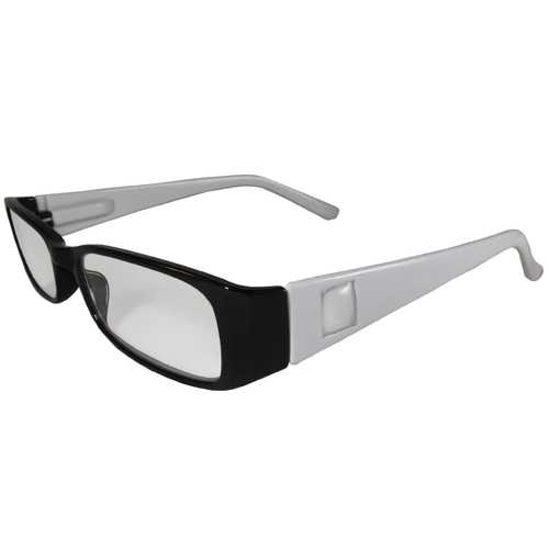 Black and White Reading Glasses Power +2.25, 3 pack