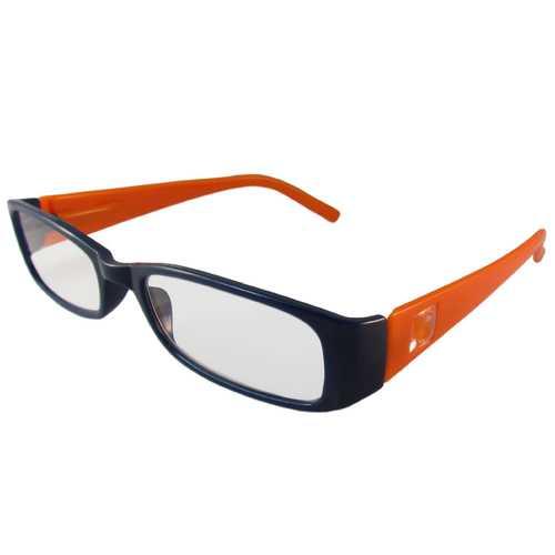 Dark Blue and Orange Reading Glasses Power +1.25, 3 pack