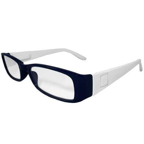 Dark Blue and White Reading Glasses Power +2.00, 3 pack