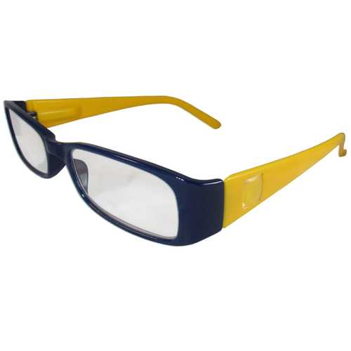Dark Blue and Yellow Reading Glasses Power +2.00, 3 pack