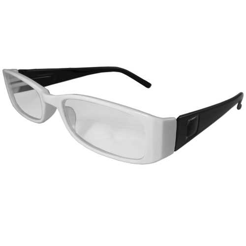 White and Black Reading Glasses Power +2.00, 3 pack