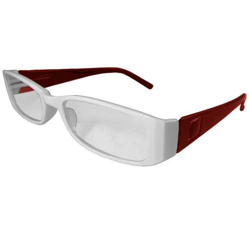 White and Red Reading Glasses Power +2.50, 3 pack
