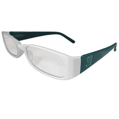 White and Teal Reading Glasses Power +1.75, 3 pack