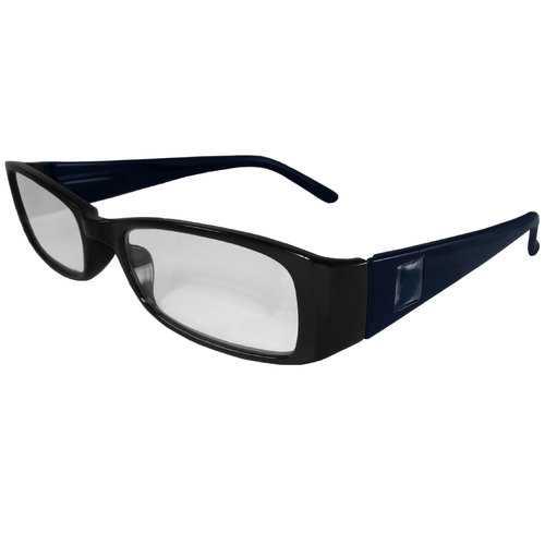 Black and Dark Blue Reading Glasses Power +2.25, 3 pack