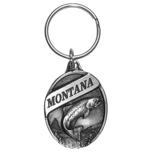 Montana Trout Antiqued Keyring