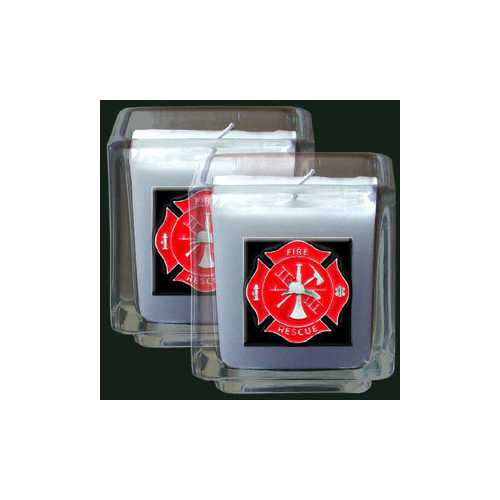 Fire Fighter 2pk Candle