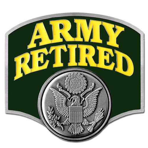 Army Retired Hitch Cover