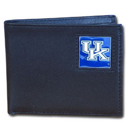 Kentucky Wildcats Leather Bi-fold Wallet Packaged in Gift Box