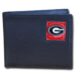 Georgia Bulldogs Leather Bi-fold Wallet Packaged in Gift Box