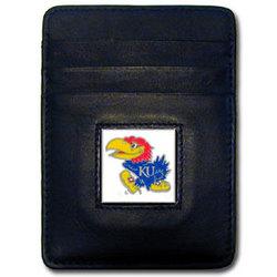 Kansas Jayhawks Leather Money Clip/Cardholder Packaged in Gift Box