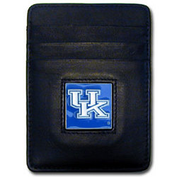 Kentucky Wildcats Leather Money Clip/Cardholder Packaged in Gift Box